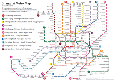 Shanghai Subway Map 2014
