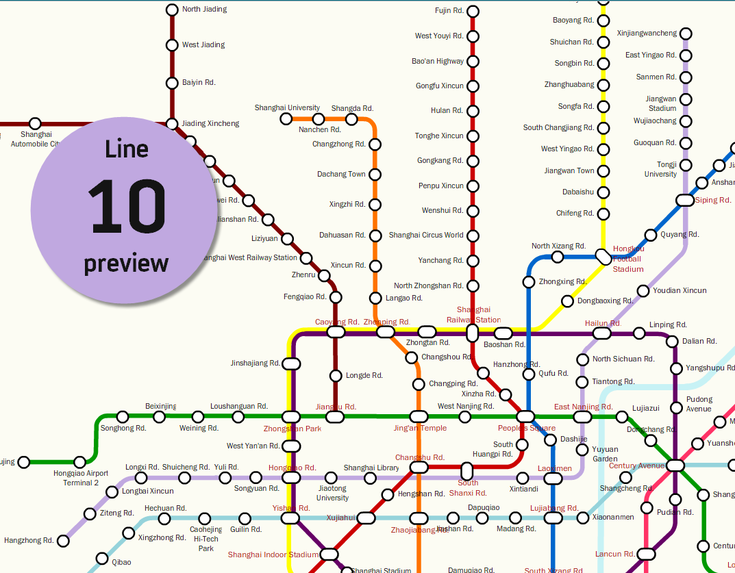 Subway Map Of Shanghai.10 Facts About Shanghai Metro Line 10 And A Map The Explore Blog