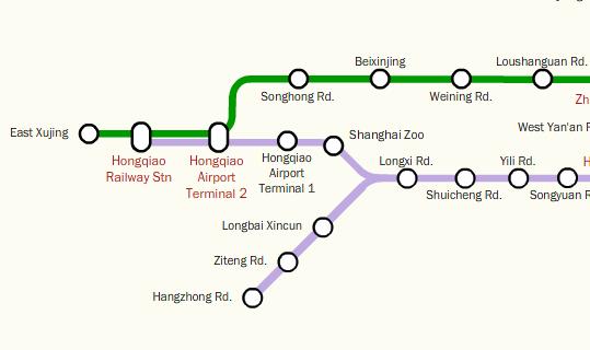 Shanghai Railway Station Subway Map.Shanghai Metro Line 10 Hongqiao Branch Opens The Explore Blog